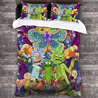 Vanes Rick&Morty Super Soft Luxury 3 Piece Twin Size in Classic Design Bedding Set - Duvet Cover& Pillow Cases 86