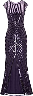 purple sequin dress long