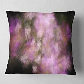 Designart Perfect Pink Starry Sky' Abstract Throw Cushion Pillow Cover for Living Room, sofa 18 in. x 18 in