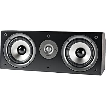 Polk Audio CS1 Series II Center Channel Speaker | Unique Design | Stand Alone or a Complement to Monitor 40, 60, and 70 Speakers | Detachable Grille | Black