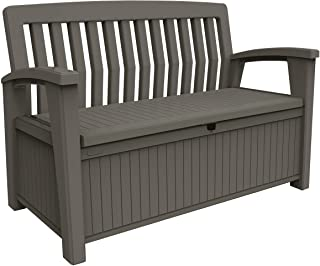 comprar comparacion Keter Patio Bench - Banco Arcón Exterior, Capacidad 265 L, Color Topo