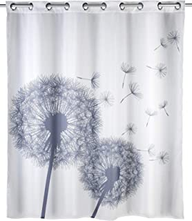 Anti-mold shower curtain Astera Flex, Anti-bacterial, water repellent, textile, washable, mold resistant with integrated h...