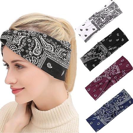 2pcs Damen Haar Band Hanfu Gürtel Kimono Zubehör Retro Blumenmuster Stirnband