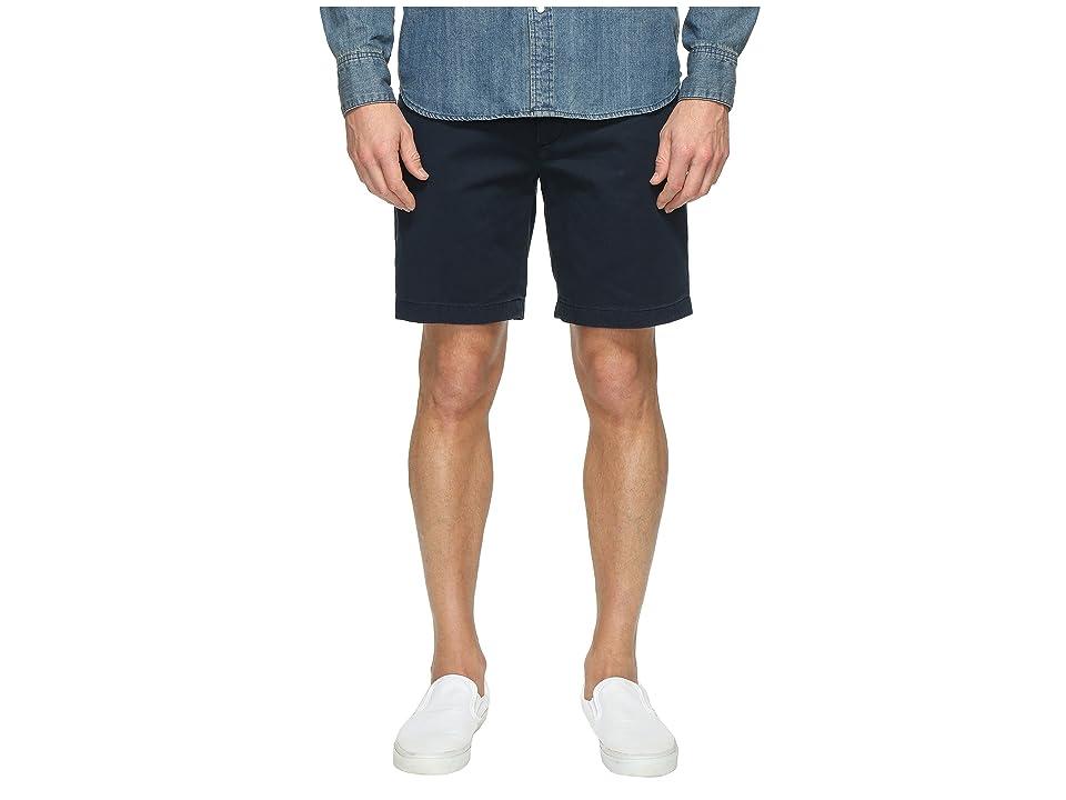 Nautica Anchor Twill Flat Front Shorts (True Navy) Men