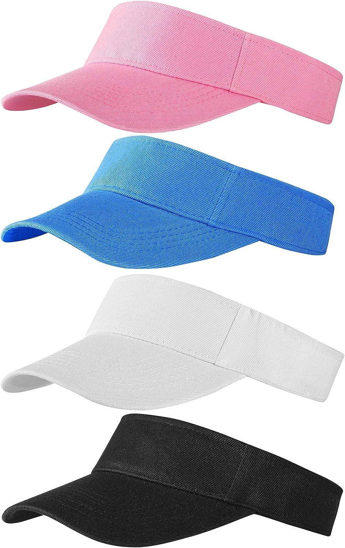 Trounistro 4 Pack Sun Max 42% OFF Sports Sale item Visor Adjustable Hats Co Hat Summer