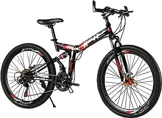 26 Inch Mountain Bike Bicycle MTB Bike 21 Gears Dual Shocks and Dual Disc Brakes Folding Bike