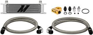 Mishimoto MMOC-UT Universal Thermostatic 10 Row Oil Cooler Kit, Silver