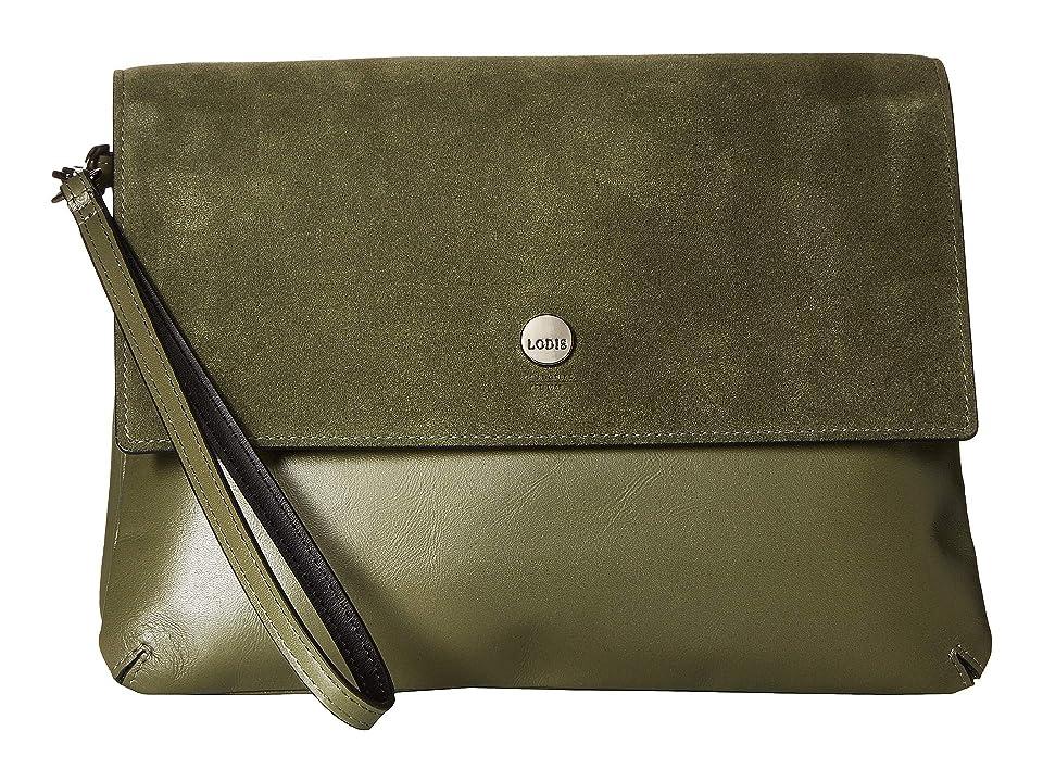 Lodis Accessories Wiltern RFID Raven Double Pouch Wristlet (Army Green) Wristlet Handbags