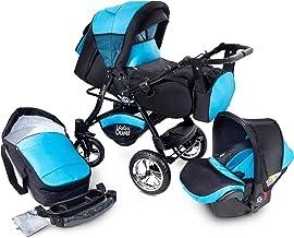 GaGaDumi Urbano Kombikinderwagen Kinderwagen Babyschale 3in1 System Autositz U6-Oceanic