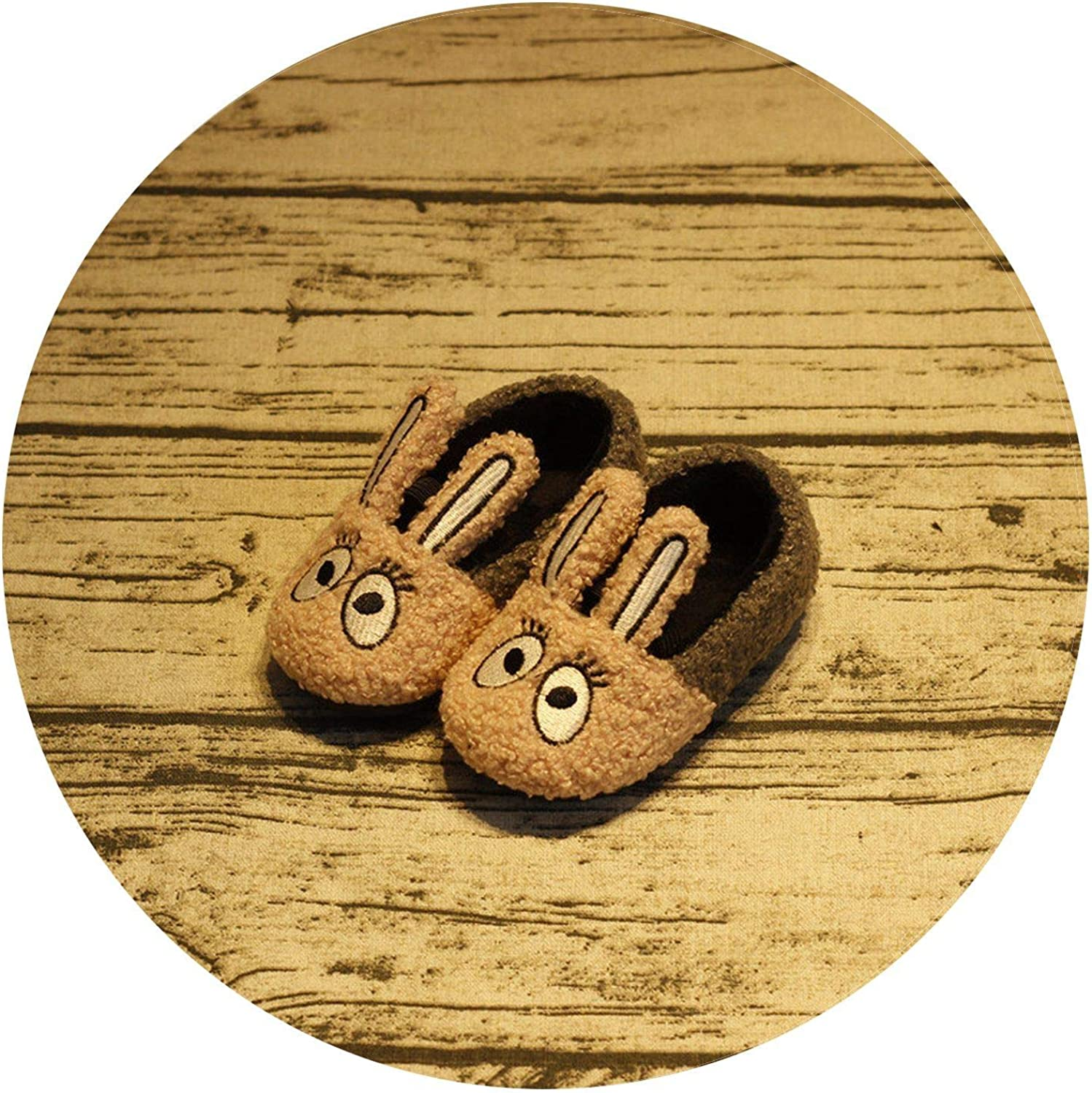 Summer-lavender Kids Winter Warm Cotton Slippers Rabbit Ears Cutess Home Anti-Skid shoes