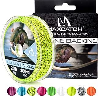 M MAXIMUMCATCH Maxcatch Braided Fly Line Backing for Fly Fishing 20/30lb(White, Yellow, Orange, Black&White, Black&Yellow)