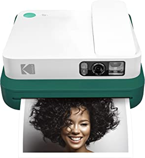 Kodak Smile Classic Digital Instant Camera with Bluetooth (Green) 16MP Pictures, 35 Prints Per Charge – Includes Starter Pack 3.5 x 4.25 Zink Photo Paper, Sticker Frames Edition