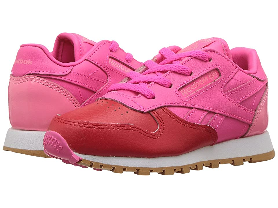 13ce55f81df93 Reebok Kids Classic Leather (Infant Toddler) (Primal Red Solar Pink
