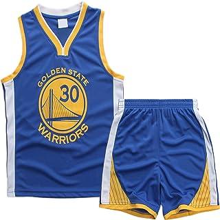 AnAn Lucky Camiseta Baloncesto niño/Basketball Jersey Set para Unisex - 23 Bulls Jordan / # 23 Lakers James / # 30 Warriors Curry/#25 Philadelphia 76ers/