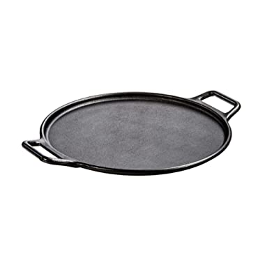Lodge Pre-Seasoned Cast Iron Baking Pan With Loop Handles, 14 , Black