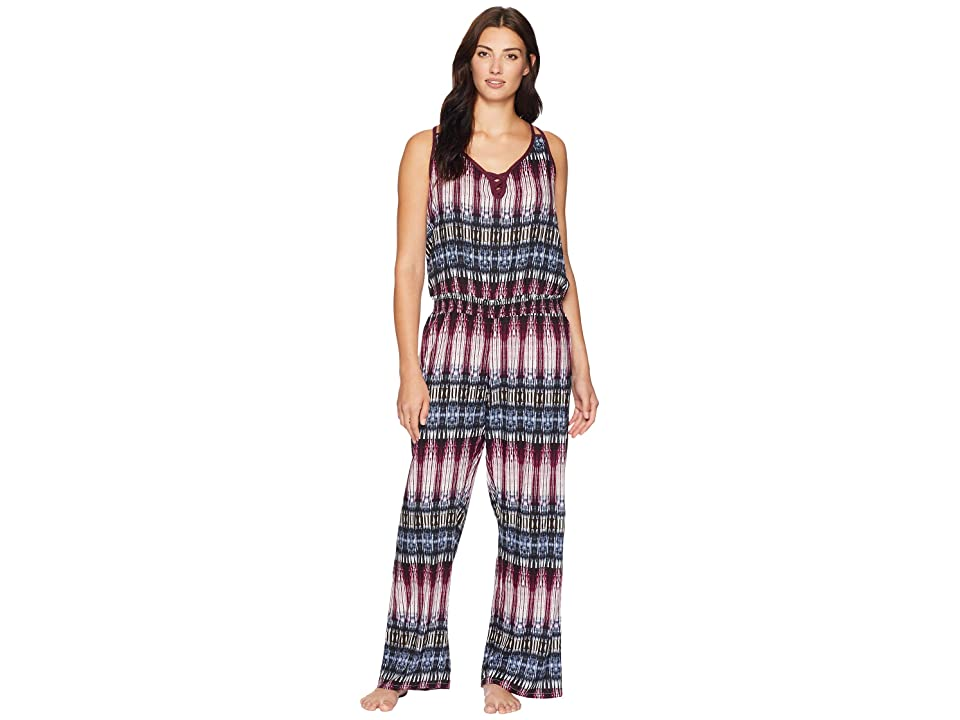 Splendid Night Sky Long Pajama Romper (Night Sky Stripe) Women