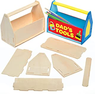 Baker Ross Design Your Own Tool Box Desk Tidy (Pack of 3) RT789, for Kids to Decorate, Display and Gift