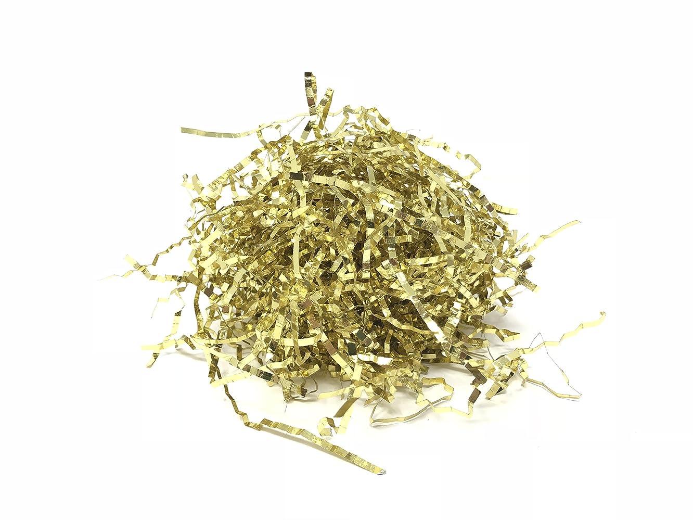 Metallic Crinkle Cut Foil Paper Shred (Gold, 32 Ounces (2 Pounds))