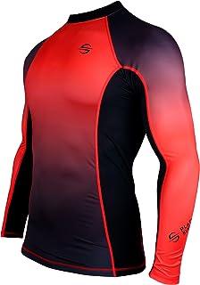 Platinum Sun Unisex Long-Sleeve Fleece Swim Shirt for Men Sun Protection UPF50+
