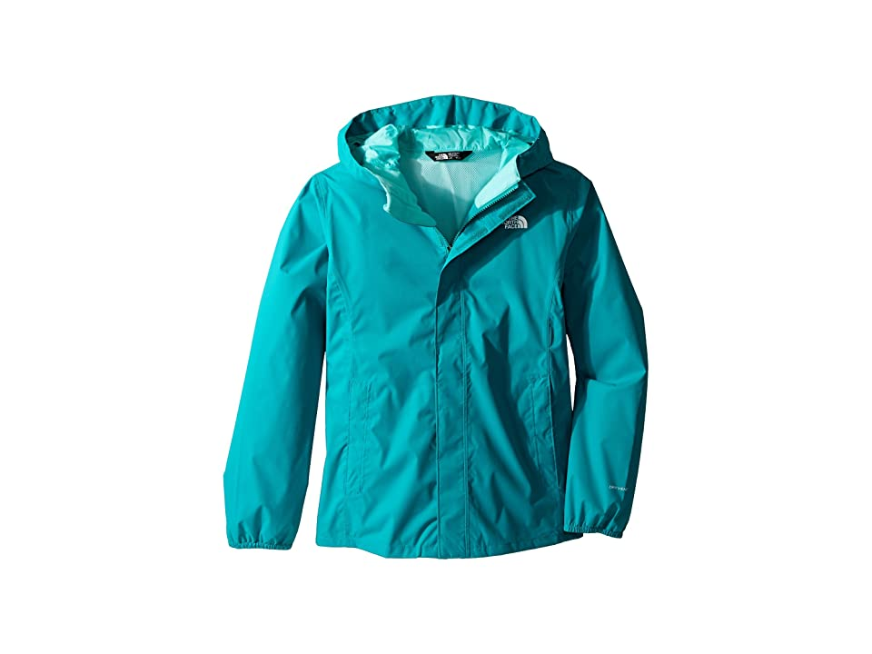 The North Face Kids Resolve Reflective Jacket (Little Kids/Big Kids) (Kokomo Green) Girl