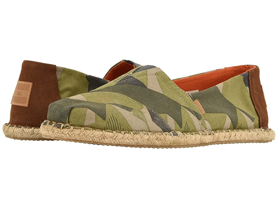 TOMS Venice Collection Alpargata (Washed Camo Blanket Stitch on Rope) Men
