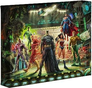 Thomas Kinkade Studios Super Hero Fine Art The Justice League 8 x 10 Gallery Wrapped Canvas