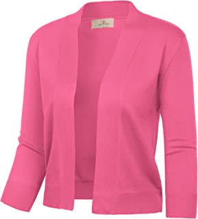 hot pink 3/4 sleeve cardigan