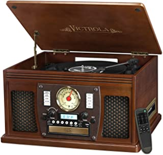vintage turntable and stereo