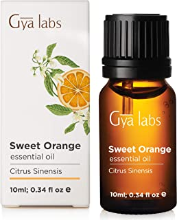 Sweet Orange Essential Oil for Diffuser, Aromatherapy and Skin (10ml) - 100% Pure Therapeutic Grade - Gya Labs