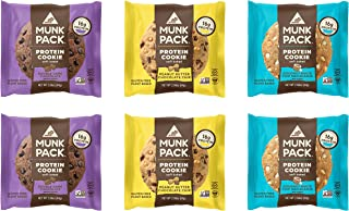 Munk Pack Protein Cookie with 18 Grams of Protein, Soft Baked, Vegan, Gluten, Dairy and Soy Free (Variety 6 Pack)