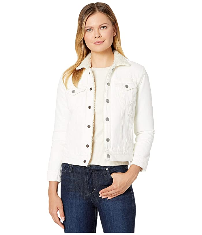 Lucky Brand  Tomboy Sherpa Jacket (Clean White) Womens Clothing