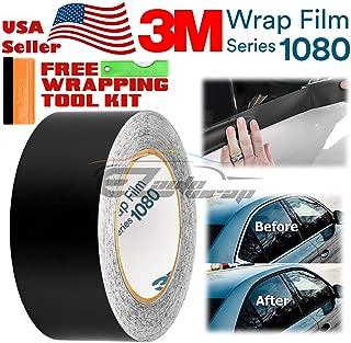 EZAUTOWRAP Free Tool Kit 3M 1080 Matte Black Vinyl Wrap Kit for Black Out Chrome Delete Window Trim Door Trim 2
