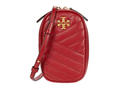 Tory Burch Kira Chevron North/South Crossbody (Redstone) Handbags