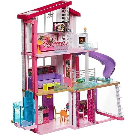 【Amazon.co.jp 限定】バービー バービーのドリームハウス おおきなエレベーター付き 【着せ替え人形・ハウス 】【ハウス、アクセサリー付き】【3歳~】GNH53