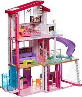 Barbie, Dreamhouse Idealny Domek Dla Lalek Z Nową Windą (Na Wózek Inwalidzki), Basenem I Zjeżdżalnią GNH53