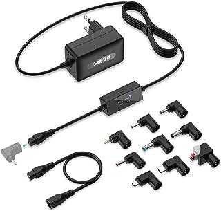 BERLS 24W Adaptador de Fuente de Alimentación de CC, Universal, Regulables, con 9 Conectores Tntercambiables, 5V 6V 7V 8V 9V 10V 11V 12V 13V 14V 15V 16V 17V 18V 19V 20V polaridad Reversible