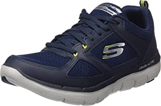 Skechers Men's 52189 Trainers, Blue (Navy/Lime), 6 AU