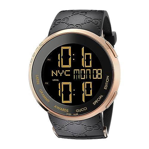 7e3c0261f77 Gucci I-Gucci Latin Grammy Special Edition Black Mens  Watch(Model YA114222