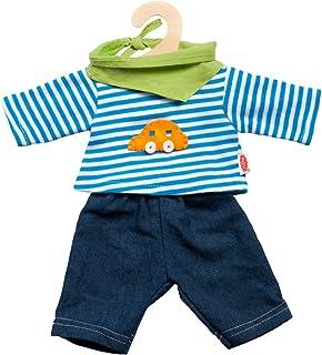 Heless Heless 2315 - Bekleidungsset für Puppen, 3 teilig, Jeans mit Streifenshirt und pfiffigem Halstuch, Größe 35 - 45 cm