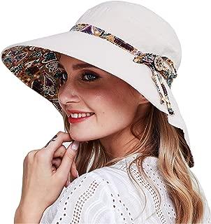 Womens Garden Hat,Both Sides wear, Foldable Wide Brim UPF 50+,pefect for Women Fishing