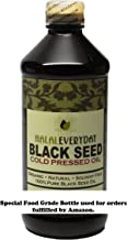 8 Oz Black Seed Oil, 100% Pure Black Cumin Seed Oil Cold Pressed in the USA (Black Seed Imported From India and Egypt) Ships in food grade plastic amber bottle - NON GMO - Vegan