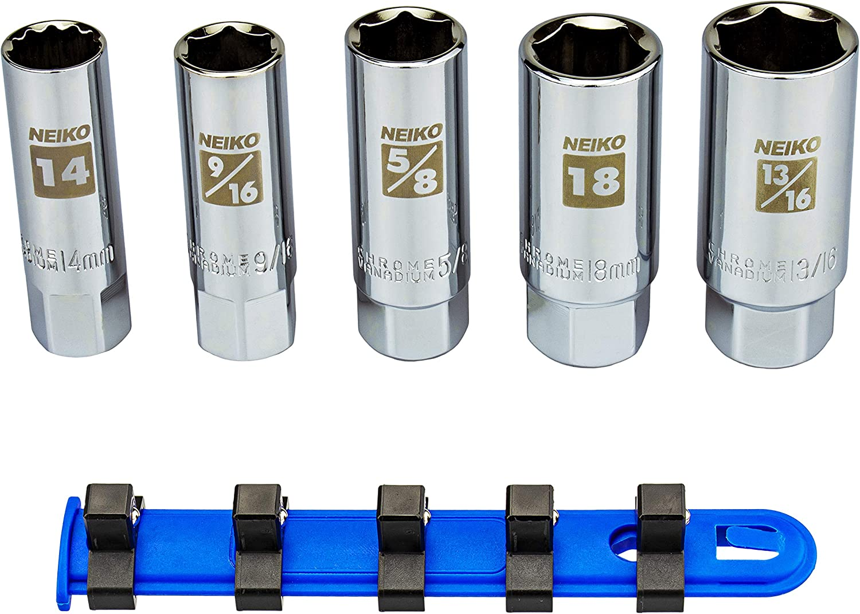 NEIKO 02500A Spark Plug Socket Superlatite latest Set Retaining Rubber Inserts
