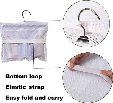 MISSLO Shower Caddy Organizer 5 Pockets Roll up Hanging Bathroom Accessories Storage for Camper, RV, Gym, Cruise, Cabin, Coll