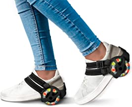 Sharper Image Clip-N-Roll Skates, Strap-in Adjustable Roller Skate Frames for Kids, Transform Shoes with LED Light-Up Multicolor Wheels, Fun Outside at Park or Beach, Hit The Street and Speed Around