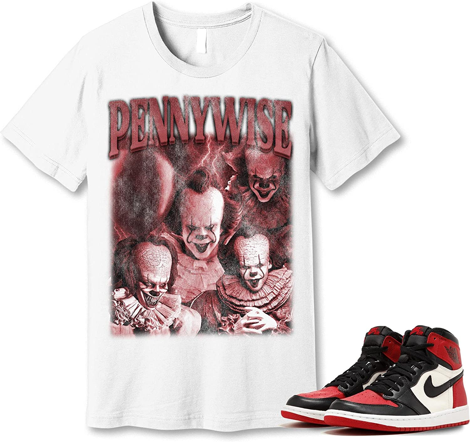 #Pennywise T-Shirt to Match Jordan 1 OFFicial Got Toe Snkrs Bred Sneaker 2021