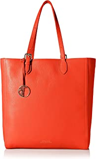 Versace Collection Women's Shopping Tote, Red Coral/Light Gold