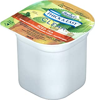 Thick & Easy Thickened Beverage 4 oz. Portion Cup Iced Tea Flavor Ready to Use Honey Consistency, 32870 - Case of 24