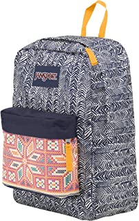 JanSport Superbreak Backpack (Navy Moonshine Chevron Stripe)