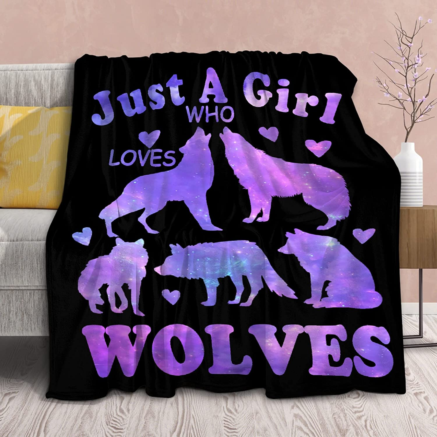 Our shop OFFers the best service Wolf Blanket Stuffed Just Girl Who for Gift Plush Ranking TOP11 K Loves Wolves