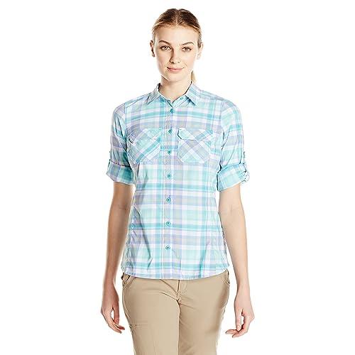 9bd1b9dd Columbia Women's Saturday Trail Plaid Long Sleeve Shirt